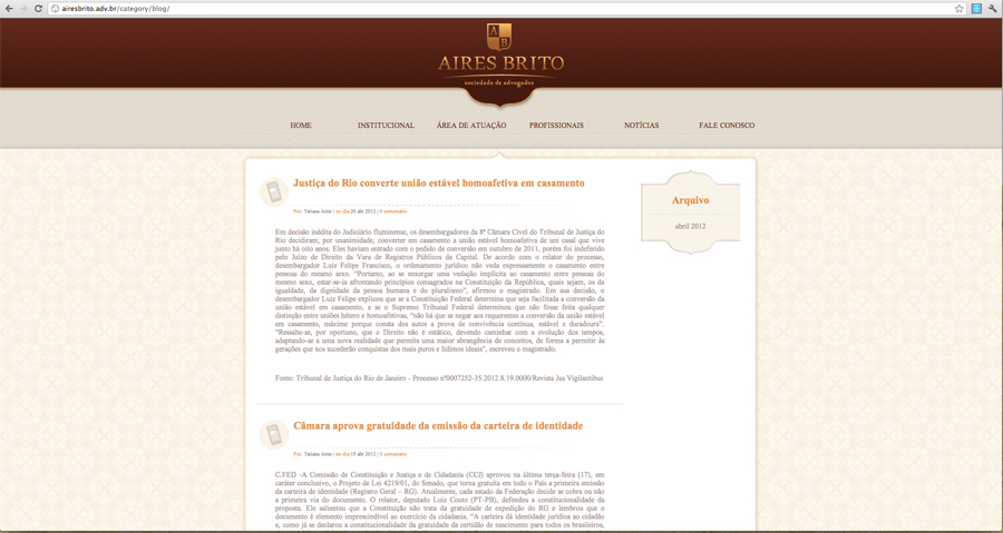 site aires brito sociedade de advogados