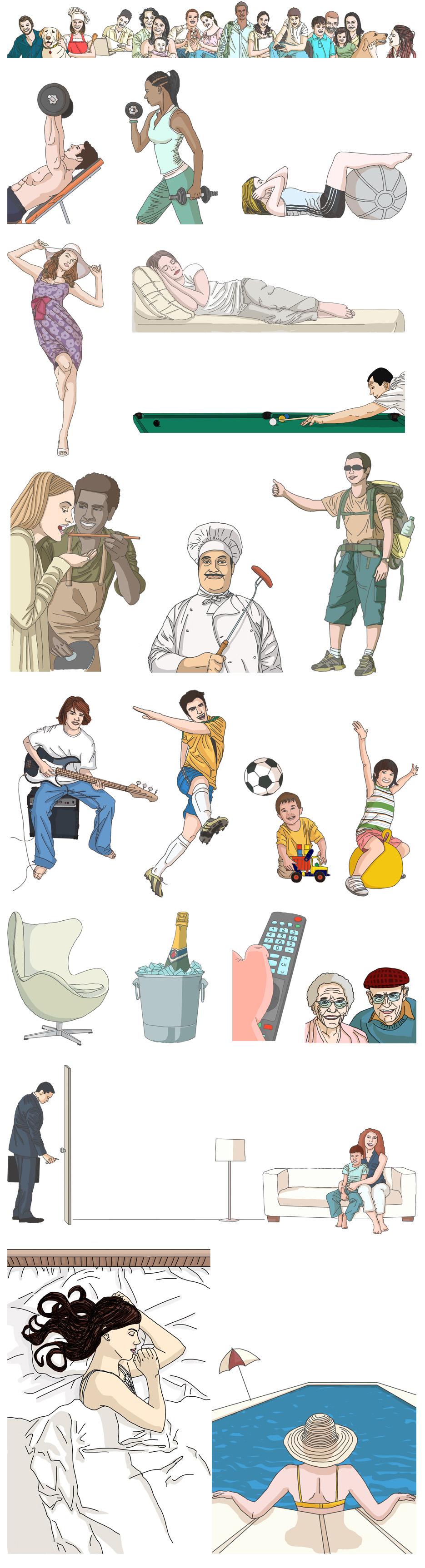ilustrações catálogo amazônia park