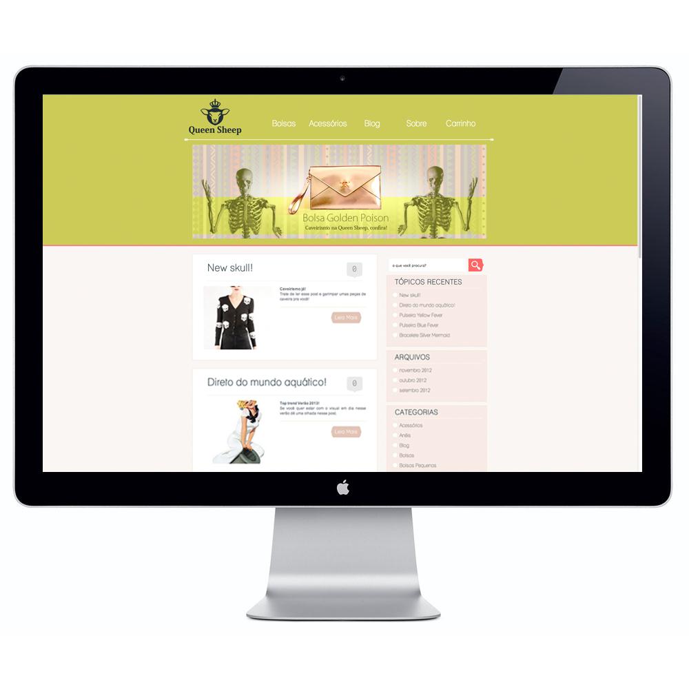 site responsivo Queen Sheep moda feminina, bolsas e acessórios