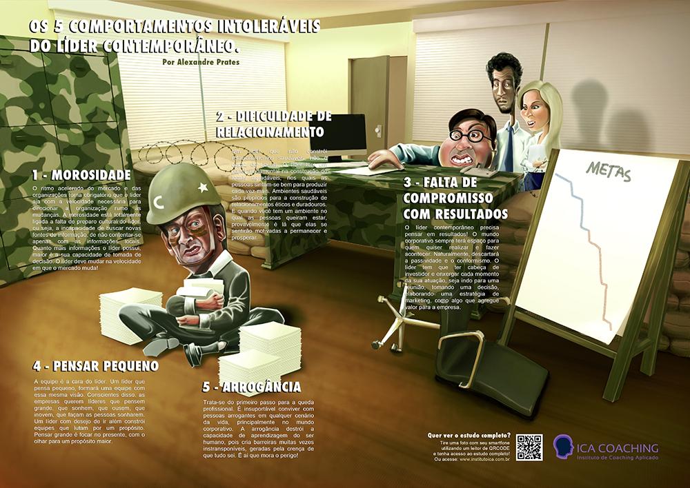 Ilustração Coaching - Os cinco comportamentos intoleráveis do líder contemporâneo